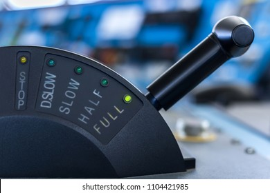 Control stick of a ship in full ahead mode.