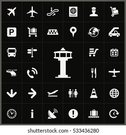 control tower icon. airport icons universal set for web and mobile