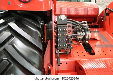 Control unit for hydraulic equipment of a modern tractor.