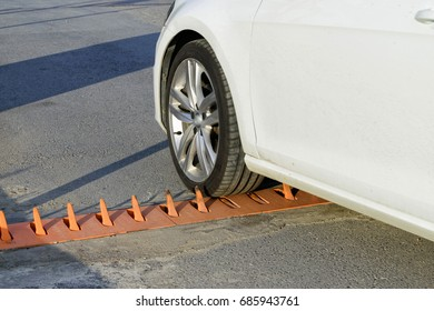 Controlled the car from the parking lot. Road Spike Barrier