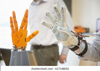 Controlling Robotic Hand With Remote Glove