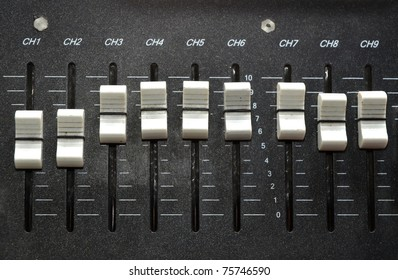 controls of an audio mixing device