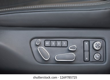 controls, buttons and details of the car inside the car