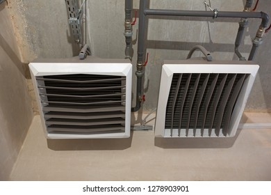 Convection heating system of industrial boiler roomю
