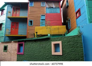 Conventillos in La Boca Neighborhood of Buenos Aires