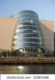 Convention Centre Center in  Docklands Dublin Ireland on River Liffey