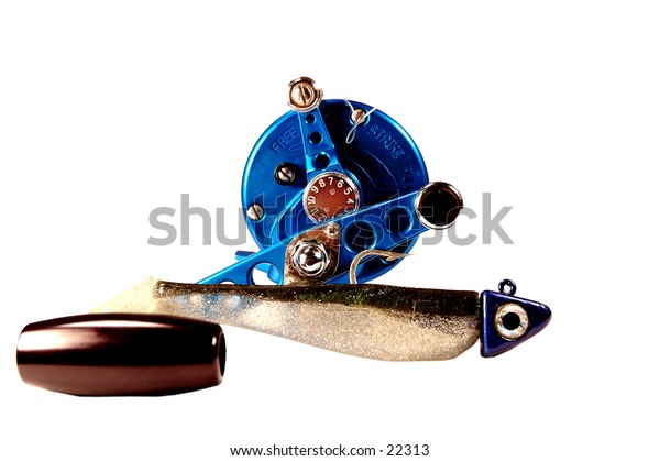 conventional fishing reel and swimbait
