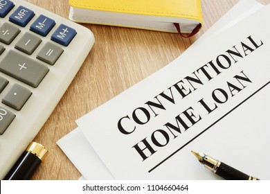Conventional home loan form and a pen.