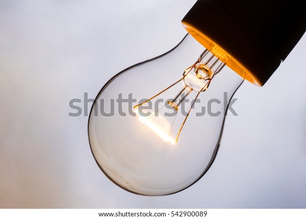 conventional incandescent light bulb for creativity concept with copy space