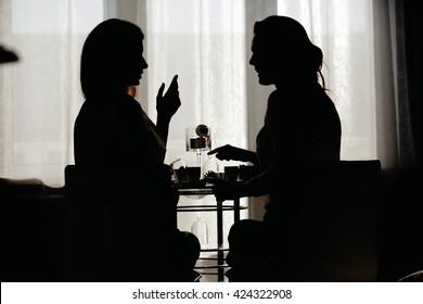 a conversation between two girls