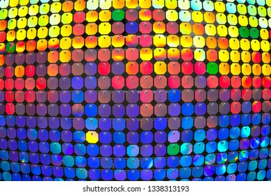 Convex multi-colored background. The colored circles. Free space