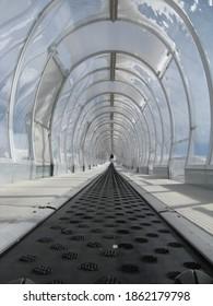 Conveyor belt for beginner skiers