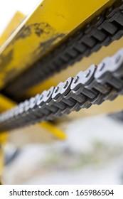 Conveyor Belt close up in an industry