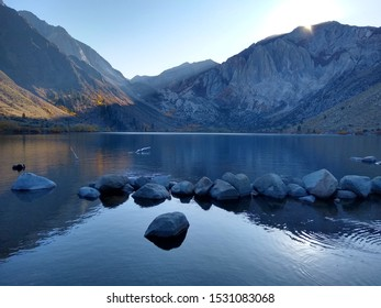 Convict Lake California surrounded by mountains