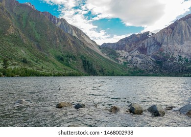 Convict Lake in the Eastern Sierra Nevada mountains, California, Mono County, California, USA. Mountain Lake at summer.