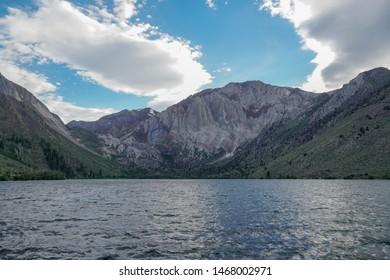 Convict Lake in the Eastern Sierra Nevada mountains, California, Mono County, California, USA. Mountain Lake at summer.