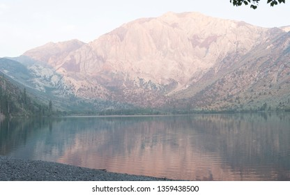 convict lake at sunrise in the sierra nevada mountains