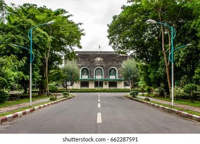 Convocation Hall in Yangon University, Myanmar, June-2017