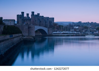 Conwy Castle in Wales, Uk
