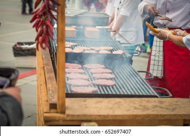 Cook grilled meat
