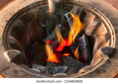 Cook with Japanese charcoal fire
