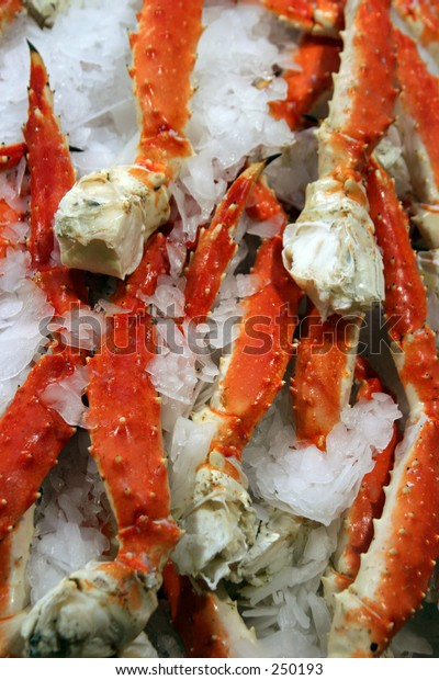 Cooked Alaska King Crab Legs On Stock Photo (Edit Now) 250193