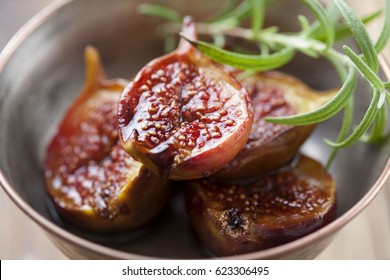 Cooked balsamic figs