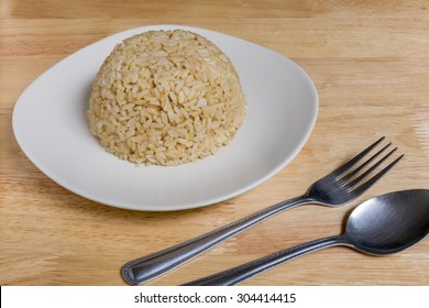 Cooked Brown Rice Background
