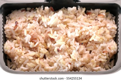 cooked brown rice in pack