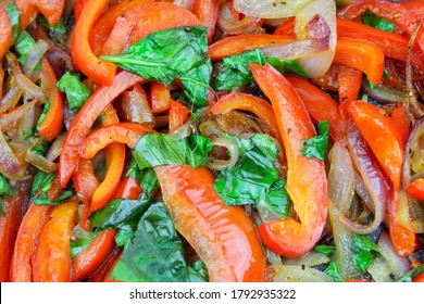 Cooked capsicum onions and parsley