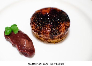 cooked  foie gras isolated on white