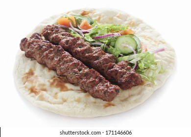 cooked indian chicken lamb shish kofte kofta kebab naan