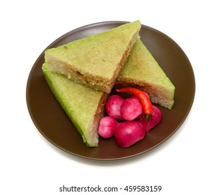 Cooked square glutinous rice cake, Vietnamese new year food