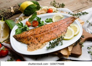 Cooked trout fillet