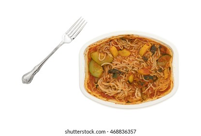 Cooked Tv Dinner Angel Hair Pasta Stock Photo Edit Now 468836357