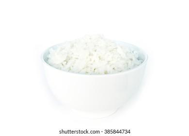 cooked white basmati rice  bowl natural food