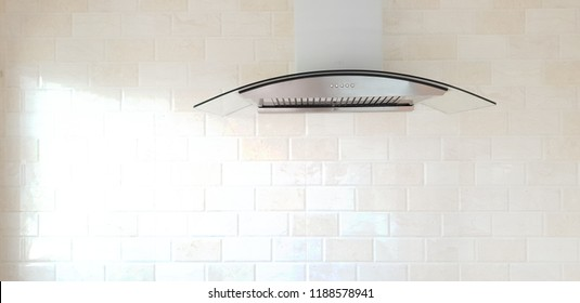 Cooker hood in kitchen