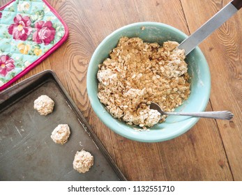 Cookie Baking Setup
