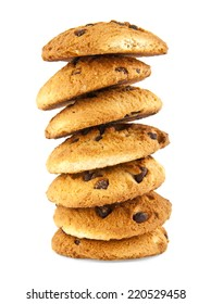 cookie with a chocolate on a white background