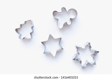 cookie cutters for homemade cookies, cookie cutters, cookie cutters on white background