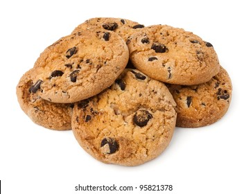 cookie heap against white background