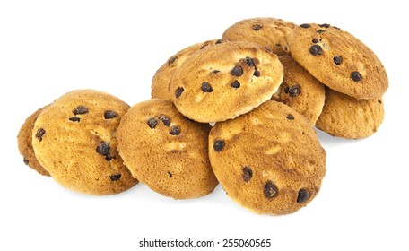a cookie is isolated on a white background