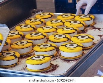 Cookie sandwiches at Minion Park at Universal Studios Japan DEC 26 2017