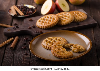 Cookies with apple filling, delish homemade, food photography, food stock