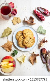 cookies for autumn breakfast on the table