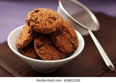 cookies in bowl