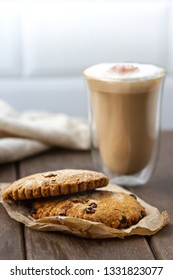 Cookies with cappuccino