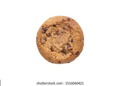 cookies with chocolate pieces on a white background