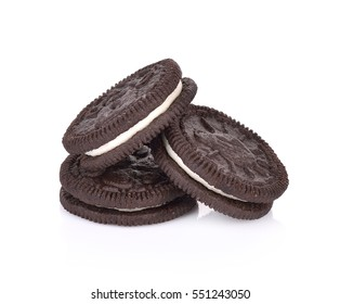 cookies cream on white background