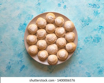 "Cookies of El Fitr Islamic Feast. Ramadan sweets. Egyptian cookies ""Kahk El Eid"""